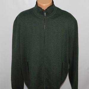 Hickey Freeman full zip sweater. XL